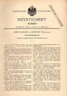 Original Patentschrift - Josef Juergens In Höntrop , Westfalen , 1891 , Gleis - Hebeapparat , Eisenbahn !!! - Historische Dokumente