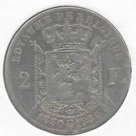 Leopold II,2 Francs 1830-1880 /50 Jaar Onafhankelijkheid/ 50 Ans De L´indépendance - 08. 2 Francs
