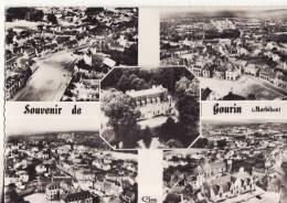 1085 Cpsm Carte Multi Vue Gourin - Gourin