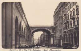 Italy Genova Via XX Settembre Ponte Monumentale