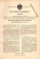 Original Patentschrift - F. Jacob In Brunndöbra B. Klingenthal I.S., 1892 , Mundharmonika !!! - Musikinstrumente