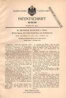 Original Patentschrift - Dr.B. Hatschek In Prag , 1892 , Schittschuh - Befestigung , Schlittschuhe , Eislauf !!! - Skating (Figure)