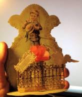 Glückwunsch Kulissenkarte Litho 3 Tableaux + Blume Pigeon 1900 Kleine Fehler, Siehe Scan - Dreh- Und Zugkarten
