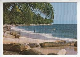 AFRIQUE- GABON ( Ex AEF ) Plage De Kombo Kombo Et Cap Santa Clara - CPSM CPM GF - Black Africa Afrique Noire - Gabon