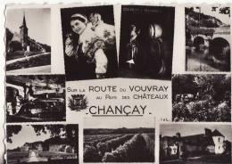 1103 Cpsm Carte Multi Vue Chançay - France
