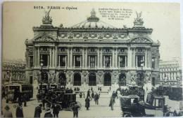 CPA PARIS 4076 - L'opéra - Animée Voiture Et Voitures à Cheval - CPA écrite 1919 - Other Monuments