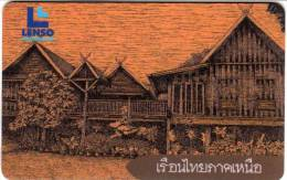 Thaïlande Lenso Phonecard 500 Baht : Architecture Thaïlande Du Nord - Thaïlande