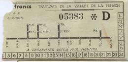 BILLET POINCONNE Des Tramways De La Vallée De La Fensch (Moselle - FRANCE) - Tram