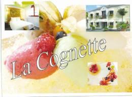 """Issoudun CARTE Photo Souple Récente Du Restaurant """" La Cognette"""" - Issoudun"""