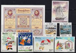 B5039 NEVIS Small Lot To Clear  MNH - St.Kitts And Nevis ( 1983-...)