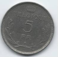Leopold III,5 Francs 1936(a) - 1934-1945: Leopold III