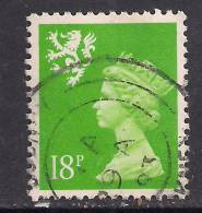 SCOTLAND GB 1992 18p BRIGHT GREEN USED MACHIN STAMP 14 Perf SG S60a.( G673 ) - Regional Issues