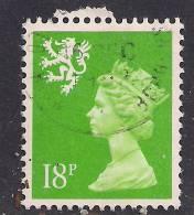 SCOTLAND GB 1991 18p BRIGHT GREEN USED MACHIN STAMP SG S60..( G682 ) - Regional Issues