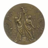 PORTUGAL - NATAL - NAVIDAD - NOËL - CHRISTMAS - MEDALHA De 1986 - 100 Mm - 300 Gr. - CABRAL ANTUNES - 3 SCANS - Tokens & Medals