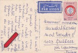 IRAN : Affranchissement Sur Carte Postale - Iran