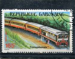 GABON. 1984. SCOTT 570. RAILROAD - Gabon (1960-...)