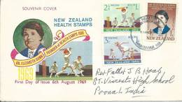 1969 Health Issue  FDI 6th Aug 1969 Special Postmark Addressed To India - FDC