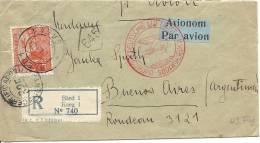 1935 Zeppelinflug Von Bled Nach Buenos Aires Zensur Südamerikafahrt Flug 49 - Yougoslavie