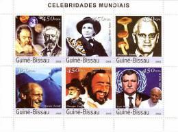 GUINEA BISSAU 2003 - Celebrities - Mi 2415-20, YT 1306-11 - Musique