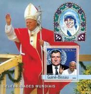 GUINEA BISSAU 2003 - Pope John Paul II, M. Teresa, L. Walesa  - Palop B530 - Mother Teresa