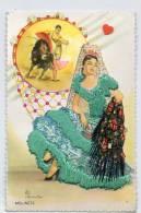 FANTAISIE-16625- MOLONETTE---Carte Brodée-----tauromachie - Bestickt