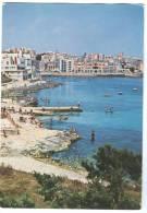 Malta, St. Julian's Bay, Used Postcard [12798] - Malta