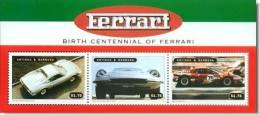 ANTIGUA BARBUDA SHEET FERRARI F1 AUTOS CLASSIC CARS KLASSIEKE AUTO´S CARROS CLÁSSICOS VOITURES CLASSIQUES AUTO CLASSICHE - Auto's