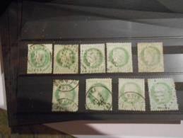 LOT 356.lot De Classiques Pour Obliteration,variétés,nua Nces.A VOIR!! - 1871-1875 Ceres