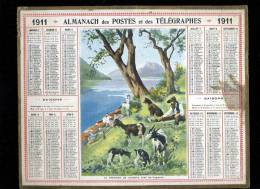 Calendrier 1911 Suisse, Le Chevrier De Gandria, Lac De Lugano - Calendarios