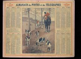 Calendrier 1928 A La Voie!, Chasse à Courre. - Big : 1921-40