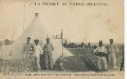 M'çoun 1235 Installation Provisoire Postes Et Telegraphes PTT Texte Dos Interessant Album Cartes - Otros