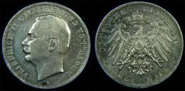 Baden – 3 Mark 1912 G Friedrich II Von Baden Silber - [ 2] 1871-1918 : Impero Tedesco