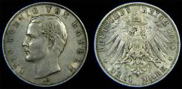 Bayern - 3 Mark 1910 D Otto König Silber - Kaiserreich - [ 2] 1871-1918 : Impero Tedesco