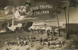 Viva Tripoli Italiana FTD 3448  1911 No Stamp Bersagliere - Libye