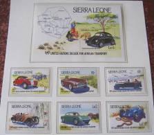SIERRA LEONE 1 SHEET 6 SETS AUTOS CLASSIC CARS KLASSIEKE AUTO´S CARROS CLÁSSICOS VOITURES CLASSIQUES AUTO - Auto's