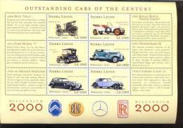 SIERRA LEONE SHEET AUTOS CLASSIC CARS KLASSIEKE AUTO´S CARROS CLÁSSICOS VOITURES CLASSIQUES AUTO - Auto's