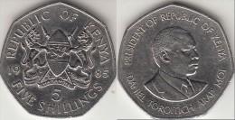 KENYA 5 Shillings 1985 KM#23 - Used - Kenia