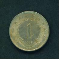 YUGOSLAVIA  -  1975  1 Dinar  Circulated As Scan - Yugoslavia