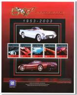 VINCENT GRENADINES CORVETTE SHEET AUTOS CLASSIC CAR KLASSIEKE AUTO´S CARROS CLÁSSICOS VOITURES CLASSIQUES AUTO CLASSICHE - Auto's