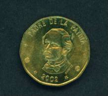 DOMINICAN REPUBLIC  -  2002  1 Peso  Circulated As Scan - Dominicana
