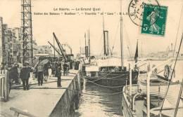 76 LE HAVRE - LE GRAND QUAI - STATION DES BATEAUX HONFLEUR TROUVILLE CAEN - Haven
