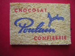 PETITE EPONGE ( COMPRESSEE N´A PAS ENCORE ETE MOUILLEE) CHOCOLAT POULAIN CONFISERIE - Cioccolato