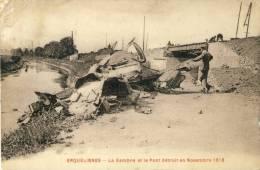 Erquelinnes - La Sambre Et Le Pont Détruit En Novembre 1918 ( Voir Verso ) - Erquelinnes
