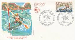 ENVELOPPE PREMIER JOUR. Championnats Du Monde De Canoé-kayak - FDC