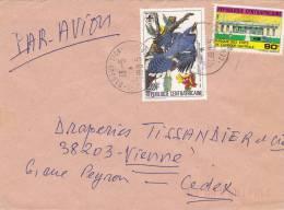 MARCOPHILIE, République Centrafricaine, Lettre Affr.t Composé, Cachet 1985 BANGUI, Oiseau Banque /2287 - Zentralafrik. Republik