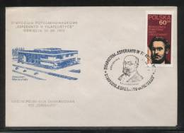POLAND 1972 ESPERANTO PHILATELISTS SYMPOSIUM COMM COVER OSWIECIM AUSCHWITZ ZAMENHOFF - Esperanto