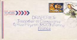 MARCOPHILIE, République Centrafricaine, Lettre Affr.t Composé, Cachet 1985 BANGUI, Galilée Espace Oiseau /2307 - Zentralafrik. Republik