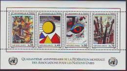 183e: UN- Genf ** Kunstblock Gomaz, Calder, Miro, Hamann 40 Jahre WFUNA - Moderne
