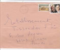 MARCOPHILIE, République Centrafricaine, Lettre Affr.t Composé, Cachet 1985 BANGUI, Grenier Musique Faust /2313 - Zentralafrik. Republik