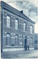 LANAKEN-POSTKANTOOR-PRACHTIGE BLAUWE VERZONDEN KAART 1908-UITG. ECHT. MARTENS-WERCK - Lanaken
